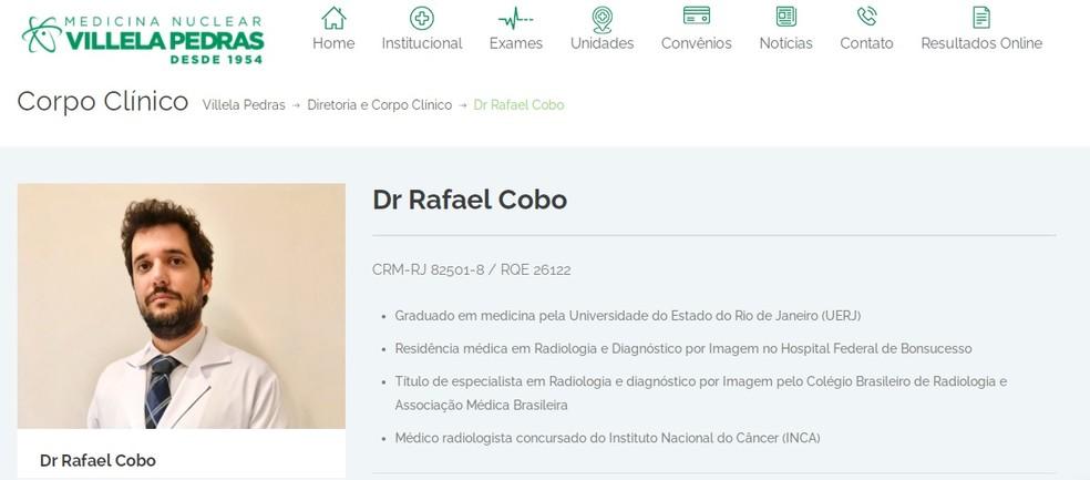 Rafael Cobo integra o corpo clínico da Villela Pedras — Foto: Reprodução
