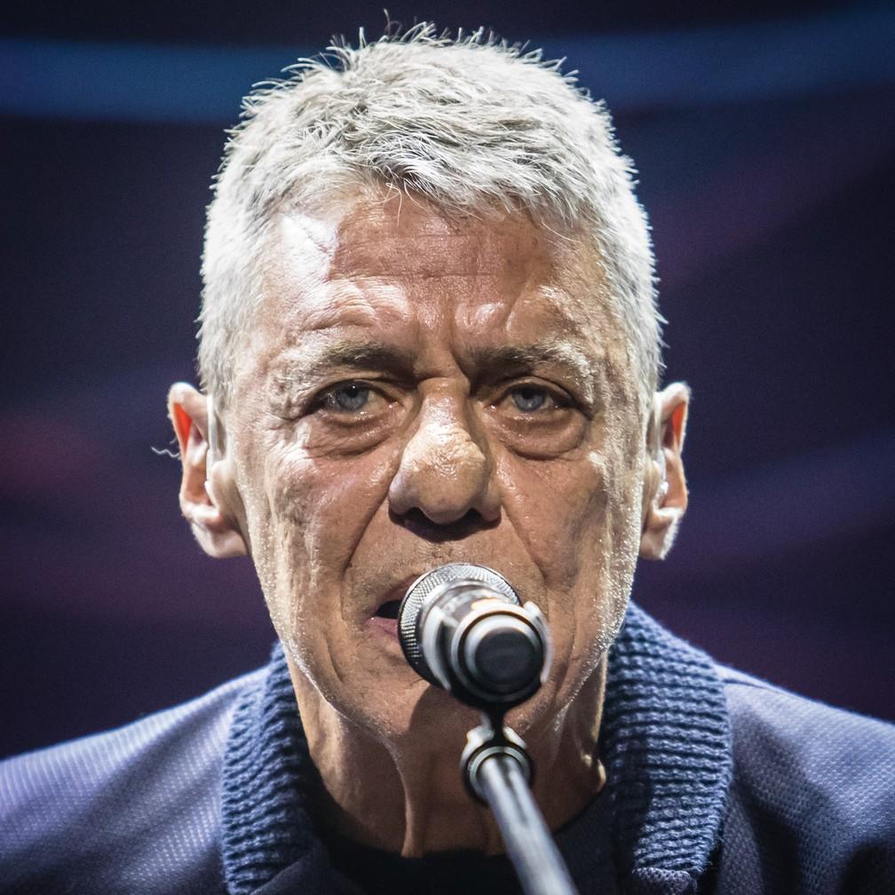 O cantor Chico Buarque durante apresentação para jornalistas em São Paulo, em fevereiro de 2018 — Foto: Fábio Tito/G1