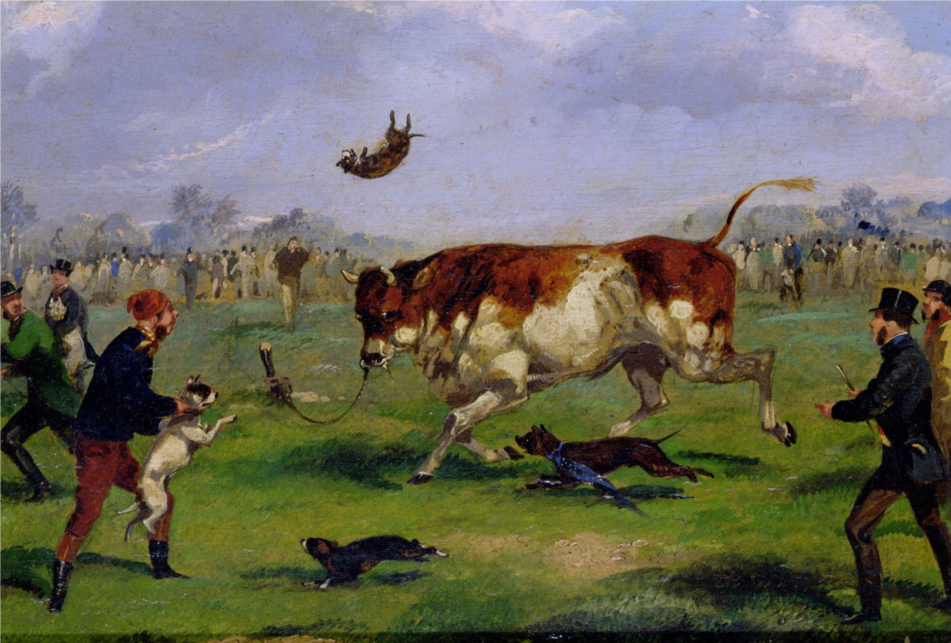 quadro descreve o bull baiting (Foto: wikimedia commons)