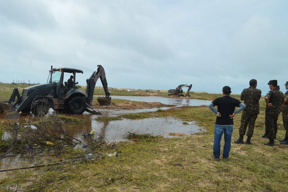 Exército foi acionado para auxiliar população de Touros após inundações (Foto: Exército Brasileiro)