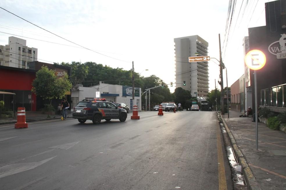 Acidente foi registrado na frente de uma boate sertaneja — Foto: Polícia Civil/Divulgação