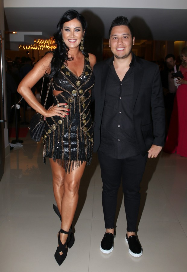 Helen Ganzarolli e César Kuratomi (Foto: Thiago Duran/AgNews)