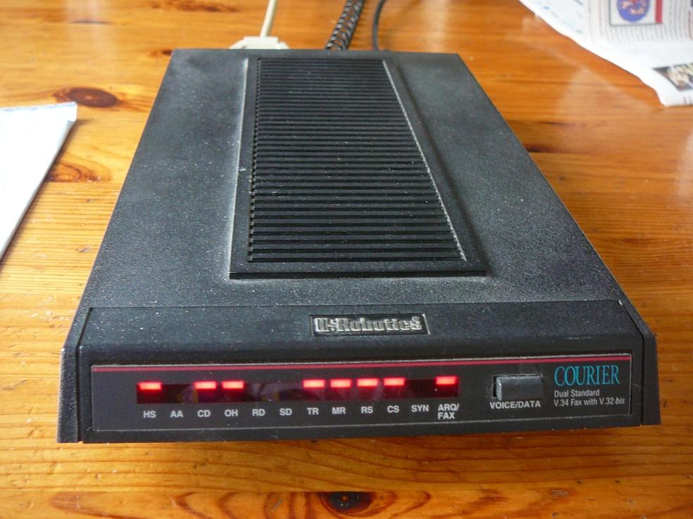 Modem utilizado na época da internet discada (Foto: Reprodução/ Wikipedia)