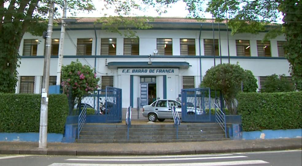 Escola Estadual Barão de Franca, no interior de São Paulo — Foto: José Augusto Júnior/EPTV