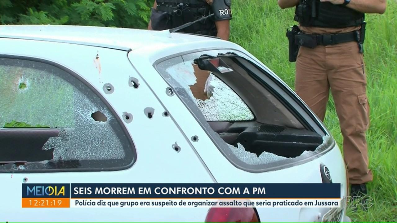 Seis suspeitos são mortos em confronto com a Polícia Militar