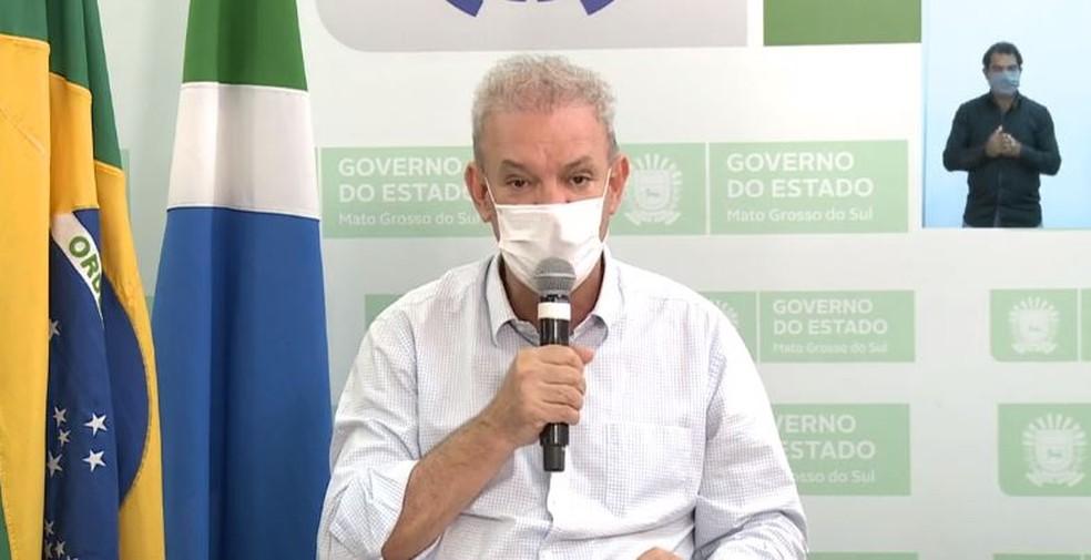 Secretario estadual de Saúde, Geraldo Resende — Foto: Reprodução/G1MS
