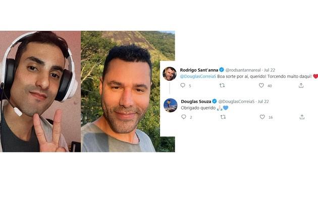 Rodrigo Sant'Anna também prestigiou o jogador nas redes sociais e declarou sua torcida (Foto: Reprodução)