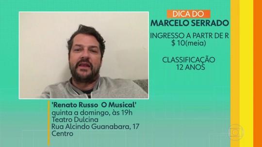 Telespectadores indicam 'Renato Russo - O musical' no Teatro Dulcina