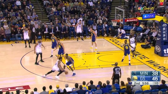 Inspirado, Curry lidera trinca afiada, e Warriors passam em casa pelos Wolves