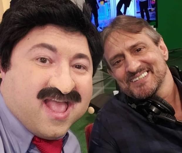 Alexandre Porpetone e Marcelo de Nóbrega (Foto: Reprodução/Twitter)