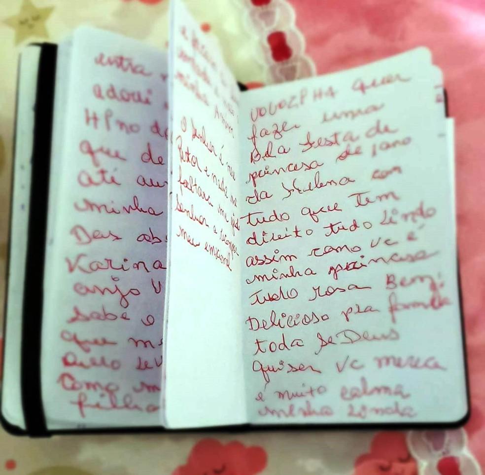 Mariane apenas soube do diário após a morte da mãe — Foto: Arquivo Pessoal