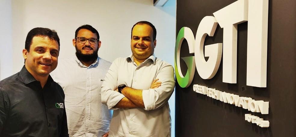 Nilzon Spinola, Marco Monteiro e Agostinho Netto, sócios da Startup GTI — Foto: Divulgação/GTI