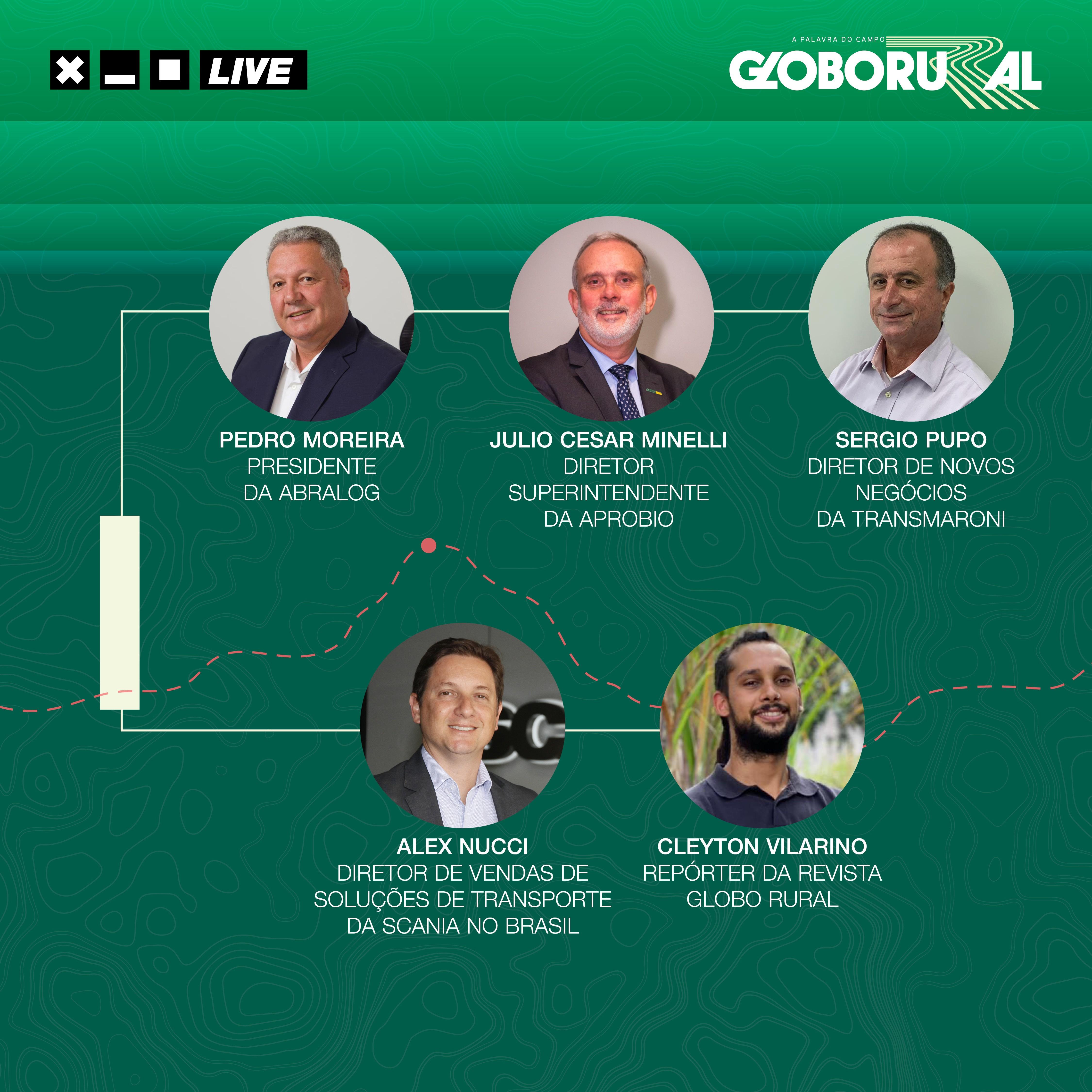 Transmissão ao vivo debaterá o futuro da logística sustentável no Brasil (Foto: Estúdio de criação/Ed.Globo)