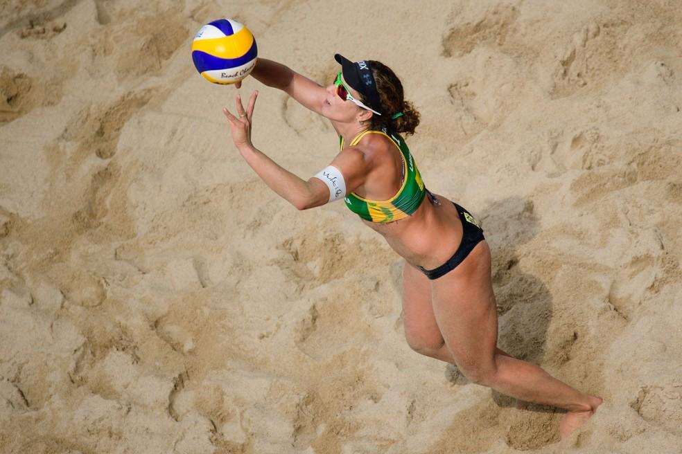 Larissa é a maior vencedora de etapas do Circuito Mundial com 61 medalhas de ouro  — Foto: Divulgação / FIVB