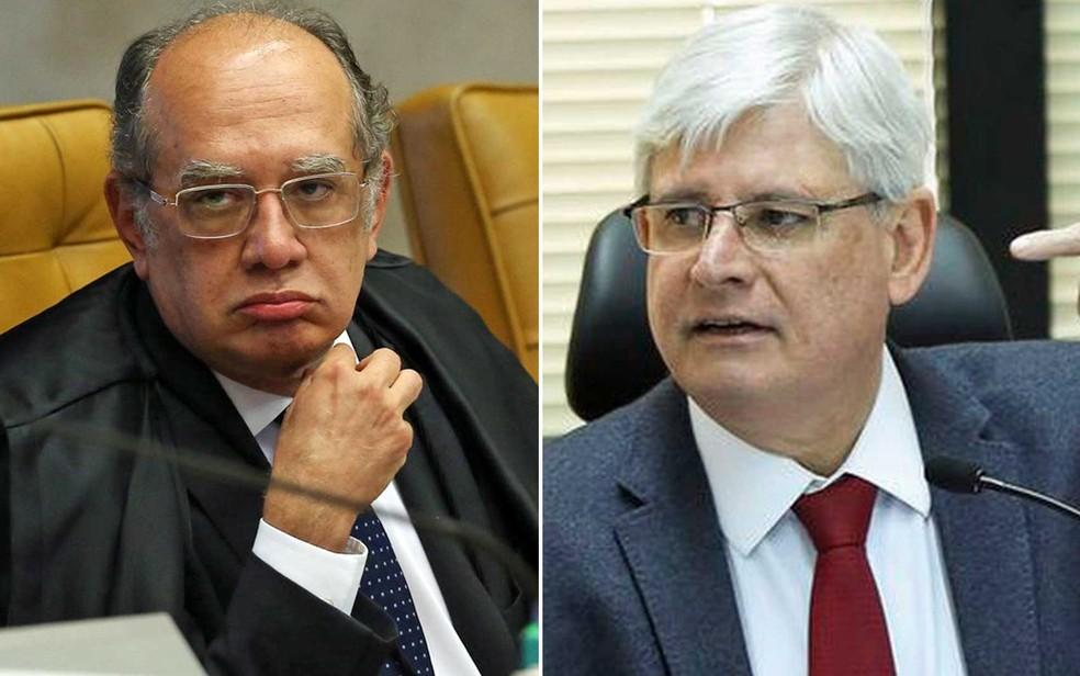 O ministro Gilmar Mendes e o procurador-geral da República, Rodrigo Janot (Foto: André Dusek / Estadão Conteúdo e Marcelo Camargo / Agência Brasil)