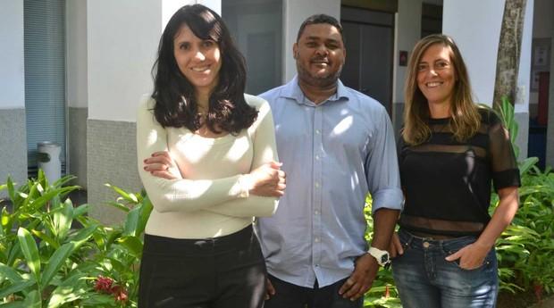 Luciana Figueiredo, Hélio Menezes Neto e Tatiana Sampaio, sócios da startup Cellen (Foto: Divulgação)