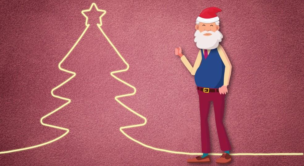 Papai Noel — Foto: TV Globo/Reprodução