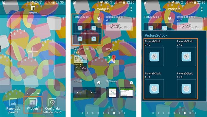 Adicione o widget do relógio no Android de forma tradicional (Foto: Reprodução/Barbara Mannara)