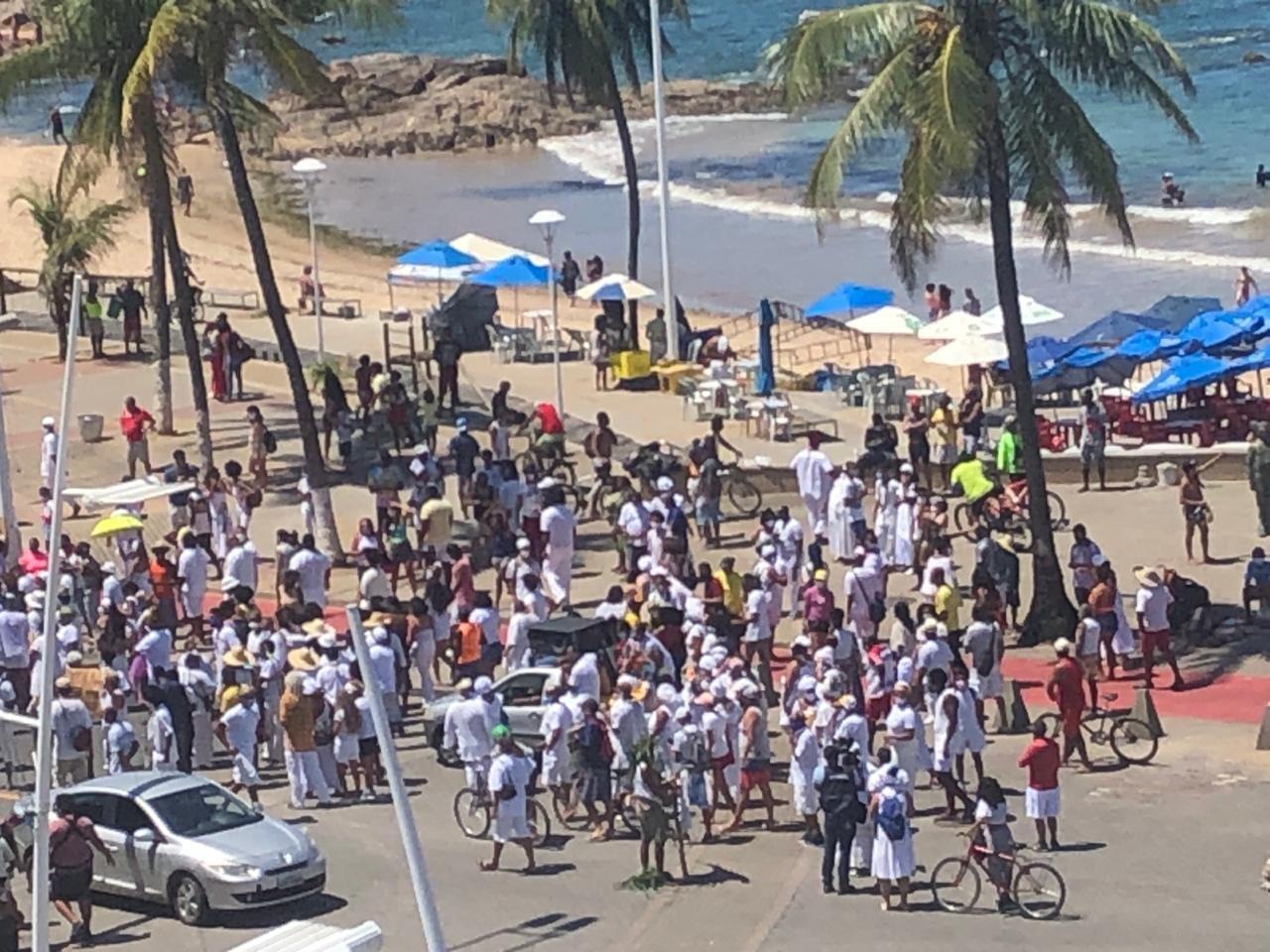 Lideranças religiosas e populares fazem ato em defesa da Lagoa do Abaeté, em Salvador
