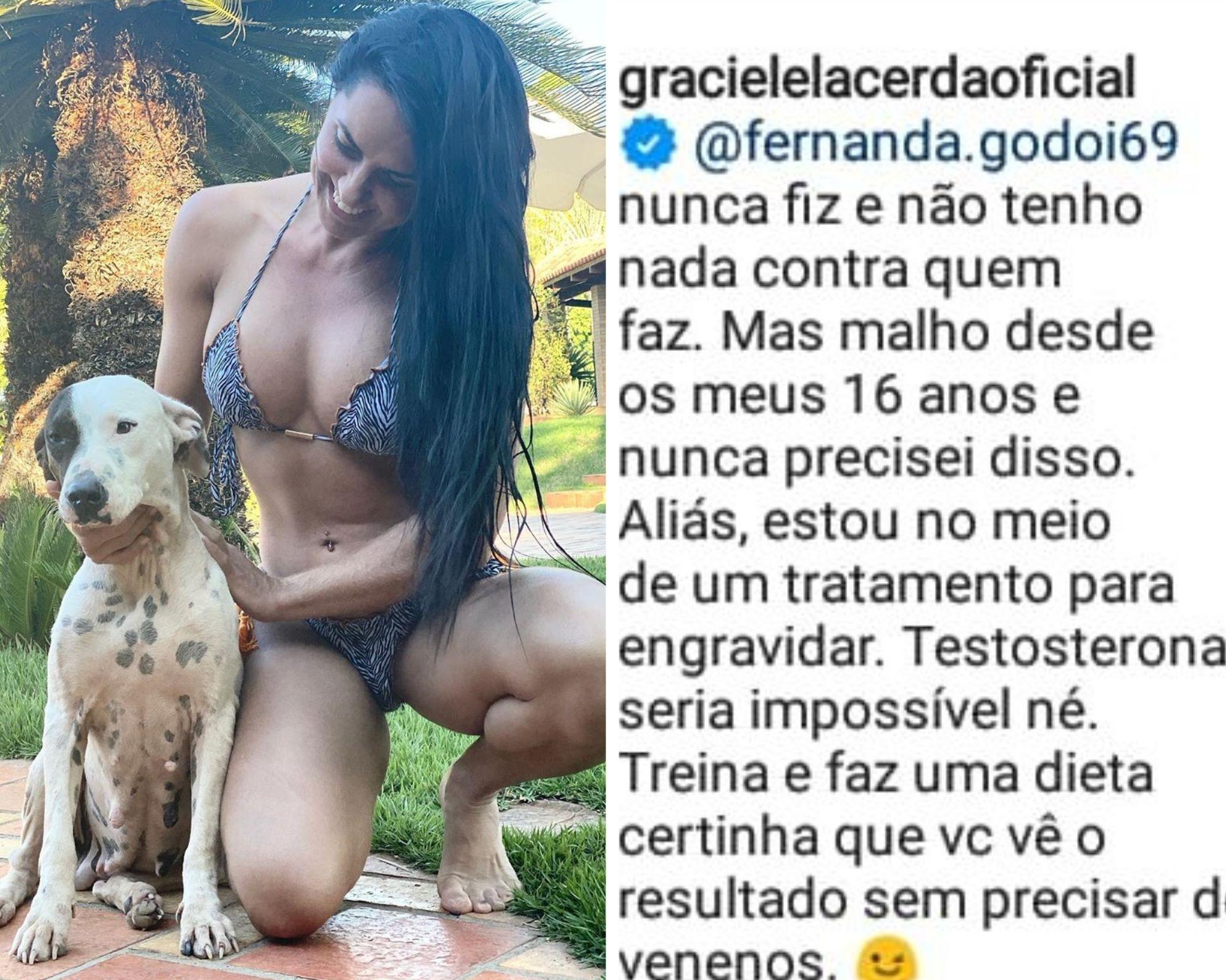 Graciele Lacerda responde comentário de seguidora sobre hormônios (Foto: Reprodução/Instagram)