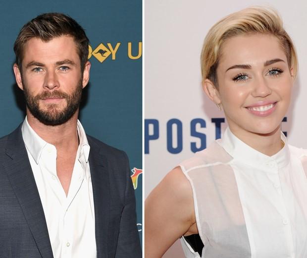 Chris Hemsworth e Miley Cyrus (Foto: Getty Images)