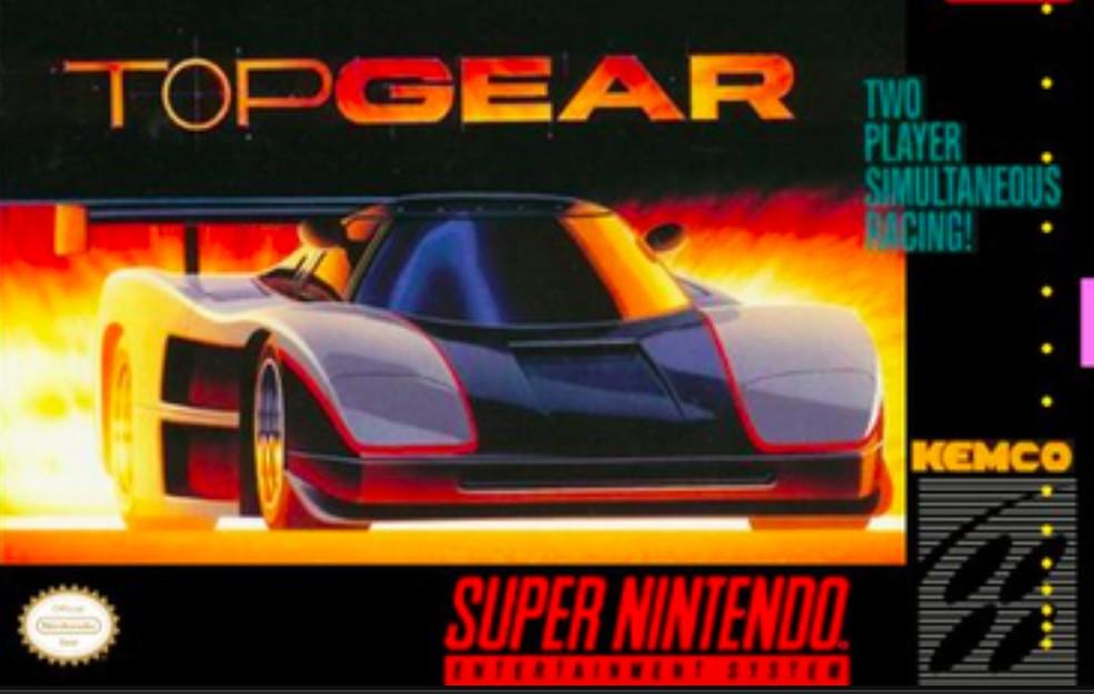 Primeiro Top Gear fez história no Super Nintendo — Foto: Reprodução/Felipe Vinha