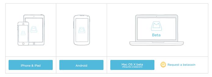 Betacoin dá acesso ao Mailbox para Mac OS X (Foto: Reprodução/Dropbox)