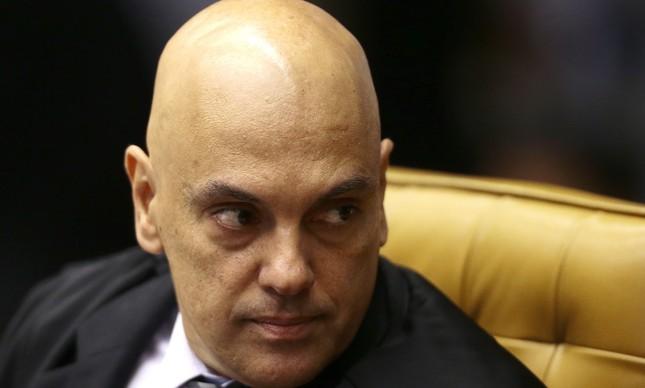 O Ministro STF Alexandre de Moraes durante a sessão no Plenário do STF