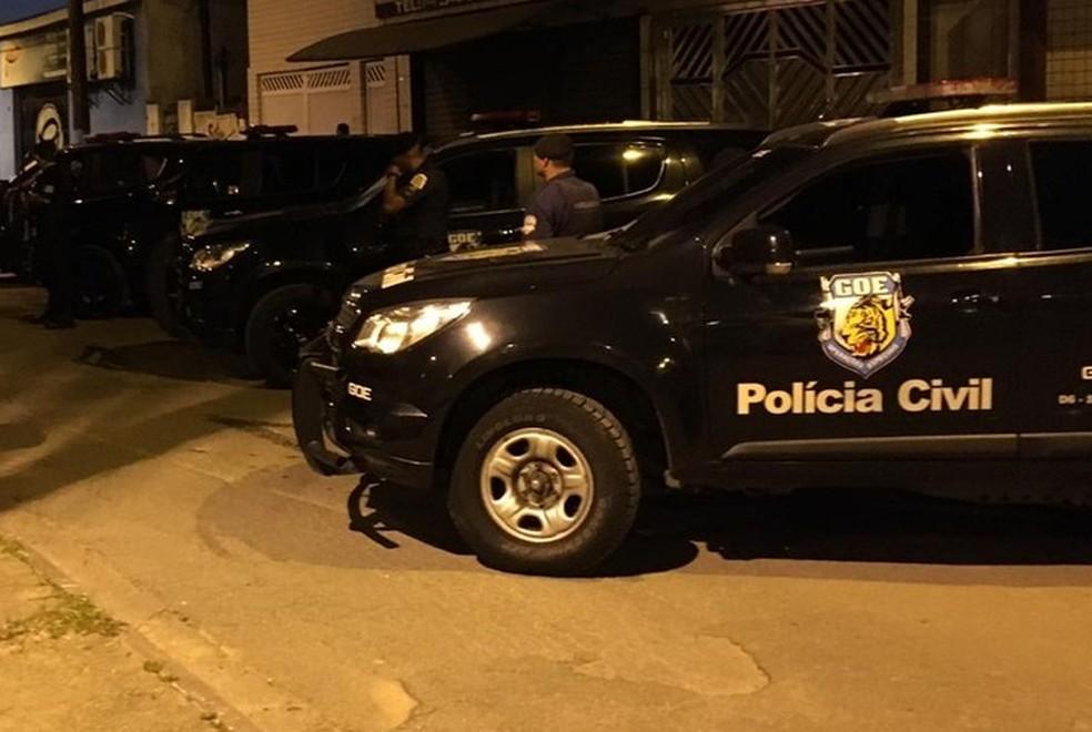 GOE atuava em operações da Polícia Civil — Foto: Solange Freitas/G1