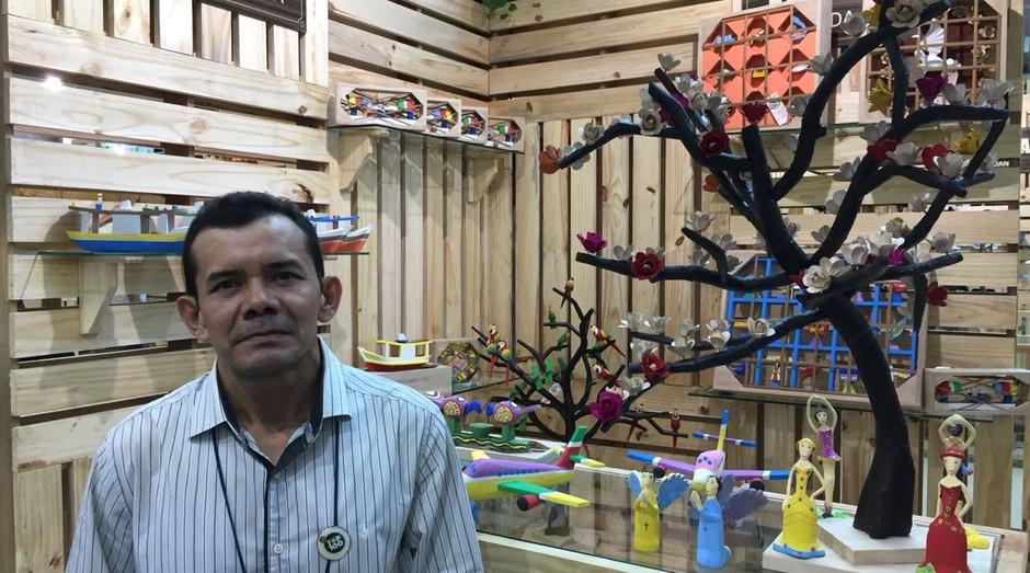 """Josias Plácido Alcântara da Silva, o """"Perias"""", fundador da Miriti da Amazônia (Foto: Editora Globo)"""