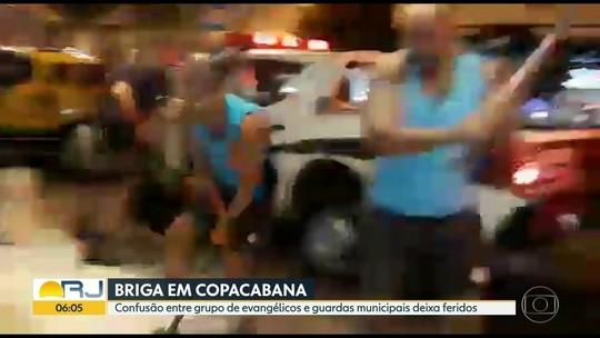 Confusão entre evangélicos e guardas municipais fere 12 no Rio