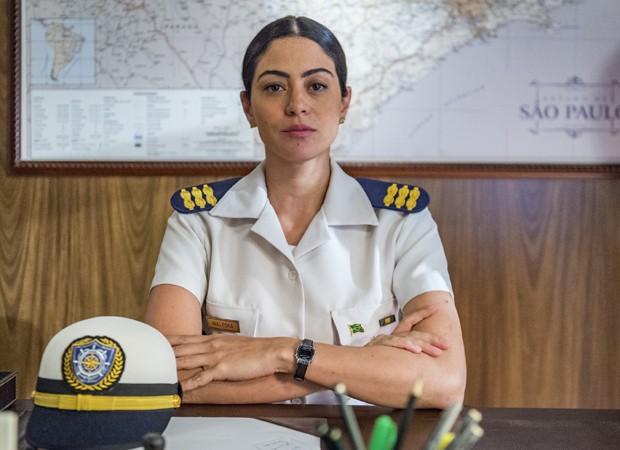 Waleska é a personagem interpretada por Carol Castro em O Tempo Não Para (Foto: Paulo Belote/TV Globo)
