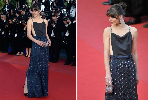 O LOOK PRADA DE MILLA JOVOVICH (Foto: Getty Images)