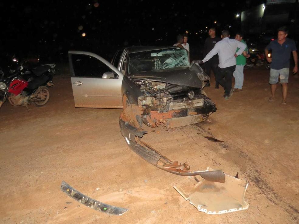 Acidente ocorreu por volta das 18h30, na quinta-feira (28). — Foto: Blog do Braga