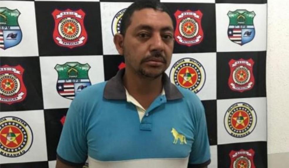 Rafael Rodrigues Pereira, de 35 anos, acusado de violentar sua esposa em Imperatriz.  — Foto: Divulgação/Polícia Militar do Maranhão