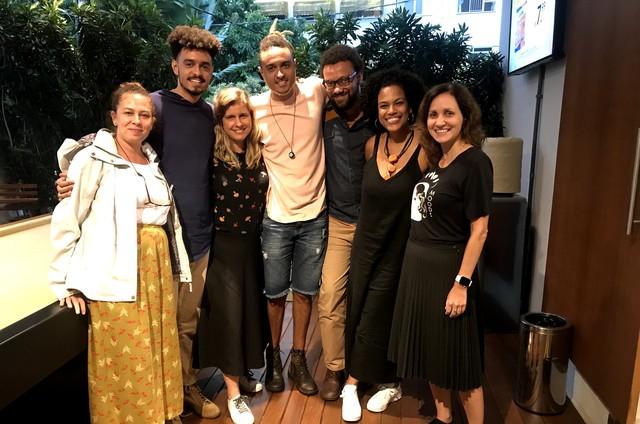 Renata Lacombe, Eduardo Carvalho, Barbara Duffles, Marcos Carvalho, Michel Carvalho, Renata Sofia e Bruna Paixão (Foto: Reprodução)