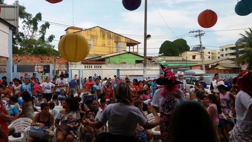 Ação organizada pelo grupo 'Muito Mais Amor', em Manaus (Foto: Divulgação)