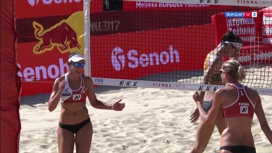 Larissa/Talita vence dupla argentina e vai às oitavas de final do Mundial
