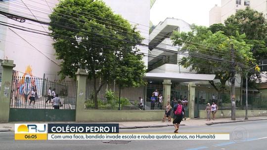 Bandido rouba alunos no Colégio Pedro II, no Humaitá