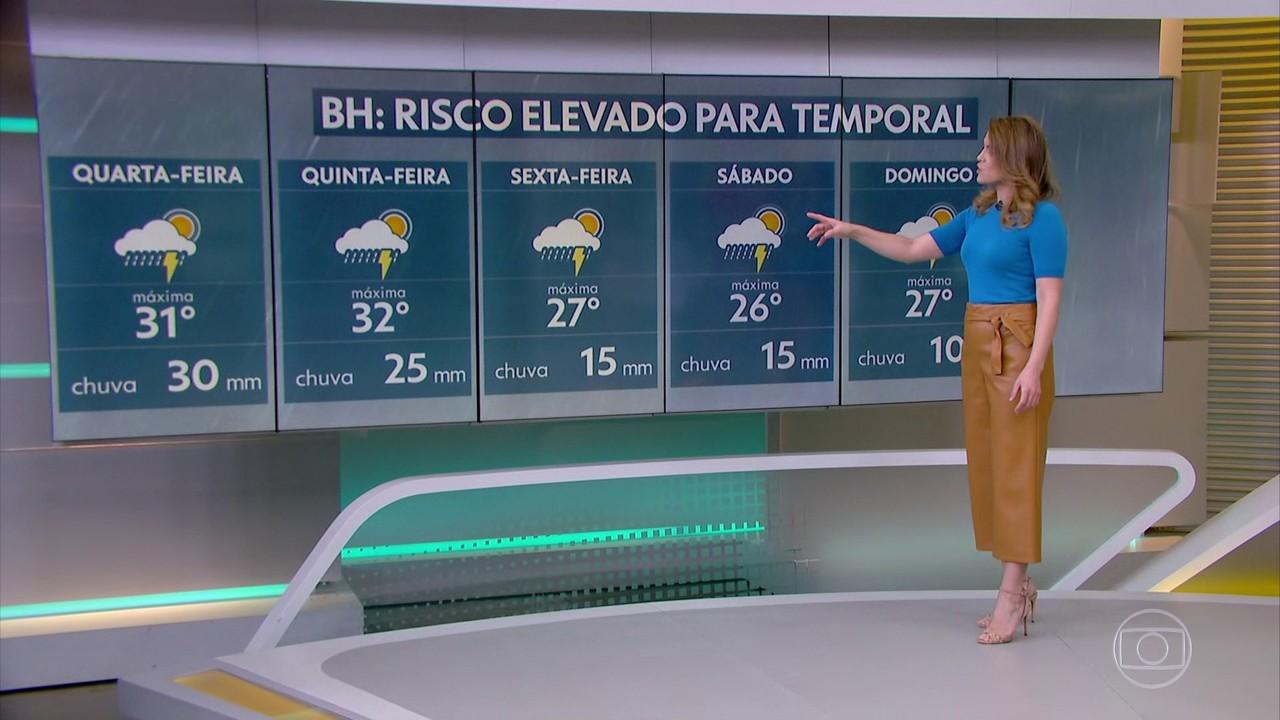 Minas Gerais entra na rota da chuva volumosa