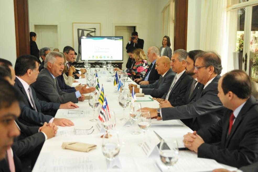 -  Integrantes do Fórum de Governadores do Brasil Central estão reunidos nesta quarta-feira, em Brasília  Foto: Gabriel Jabur/Agência Brasília