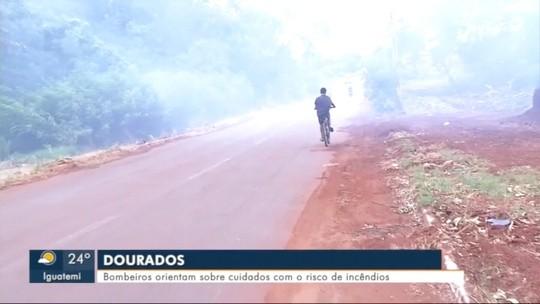 Bombeiros orientam população para risco de incêndios na vegetação com o tempo seco