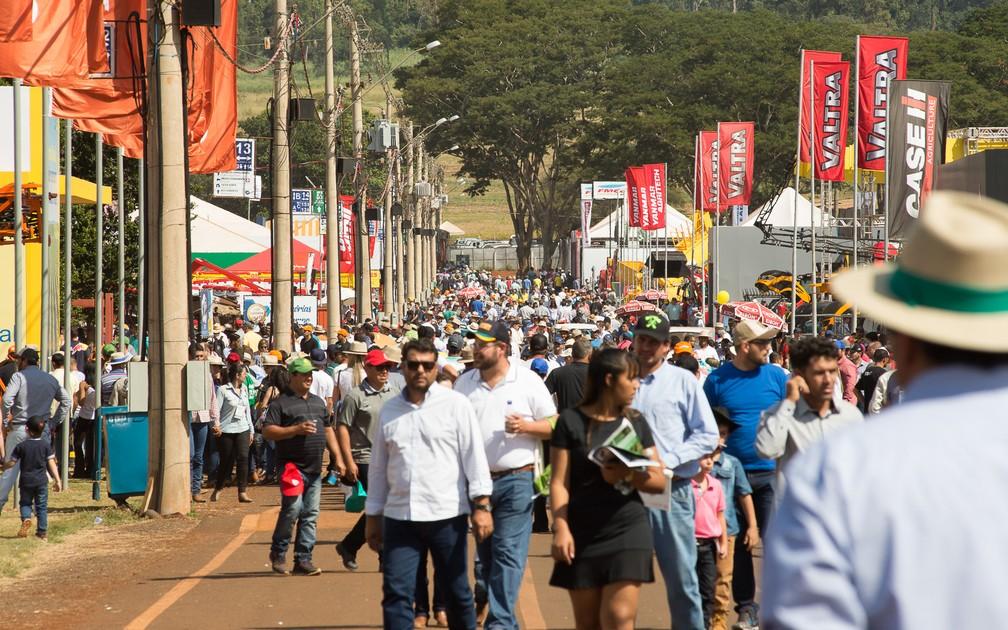 Agrishow espera receber 170 mil visitantes até sexta-feira (4) em Ribeirão Preto (Foto: Érico Andrade/G1)
