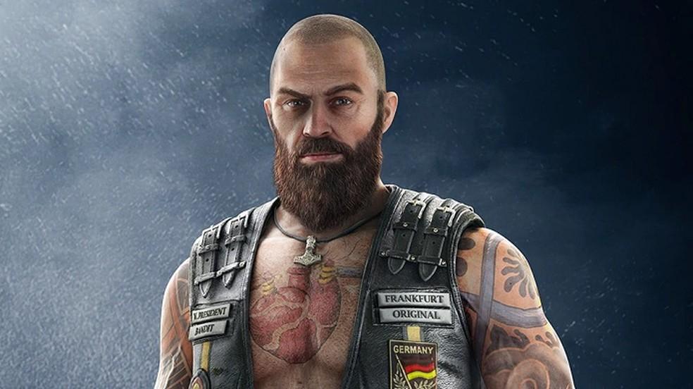 Uniforme elite do Bandit como motoqueiro bad boy — Foto: Divulgação/Ubisoft