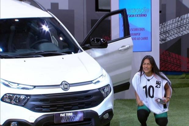 Vencedora da prova do líder do BBB leva para casa uma Fiat Toro Ultra de R$ 167.990
