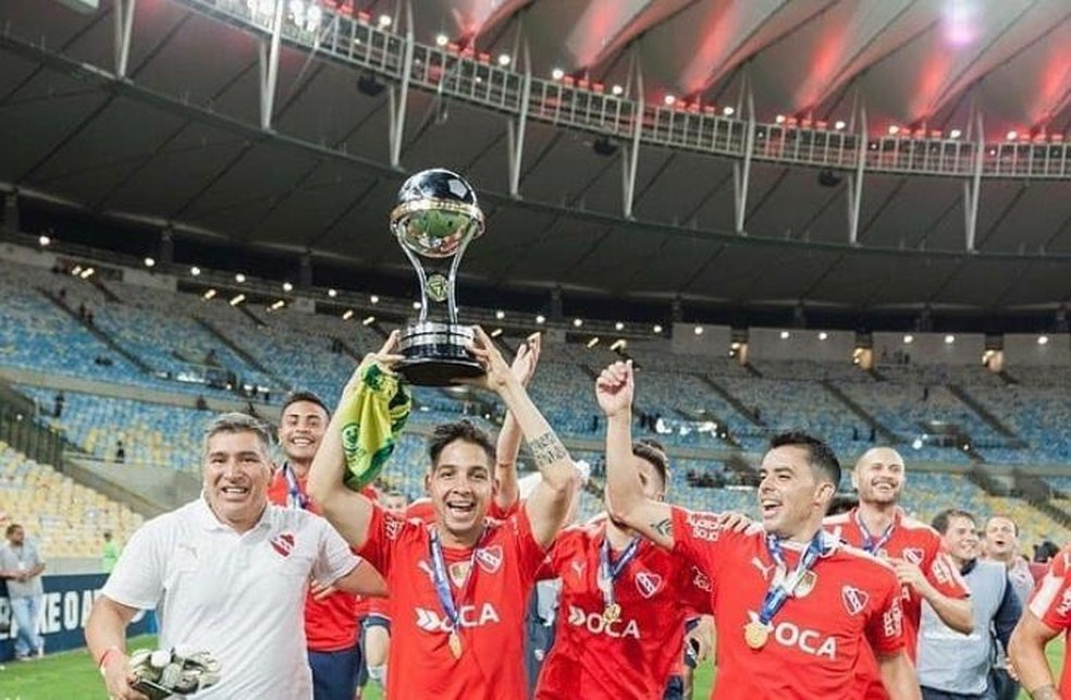 Martín Benítez foi campeão da Sul-Americana em 2017, no Maracanã, contra o Flamengo — Foto: Reprodução / Instagram