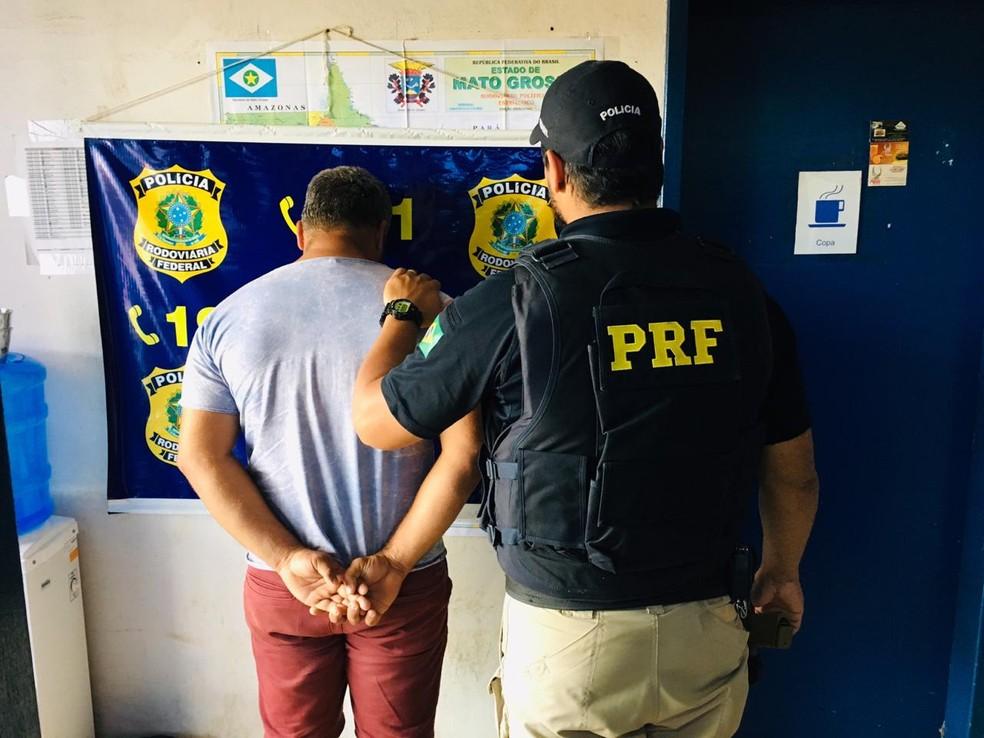 Marido é preso suspeito de ajudar mãe e padrasto a matar mulher em Primavera do Leste — Foto: Polícia Rodoviária Federal de Mato Grosso/Assessoria