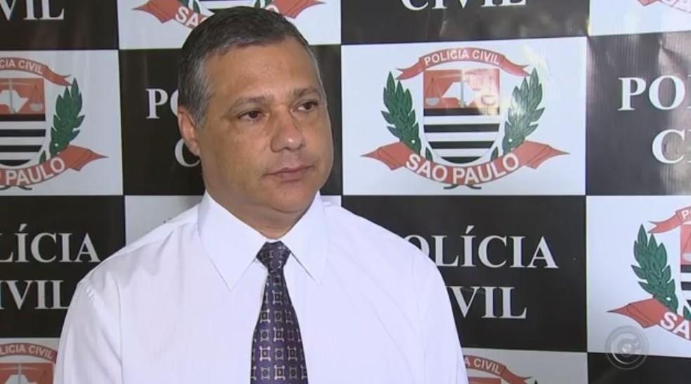 Delegado Eduardo de Sousa foi quem concluiu o inquérito policial do caso Emanuelly em Itapetininga (Foto: Reprodução/TV TEM)