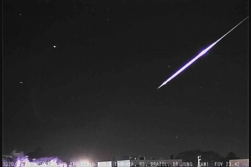 Meteoro foi visto no RS — Foto: Observatório Heller & Jung