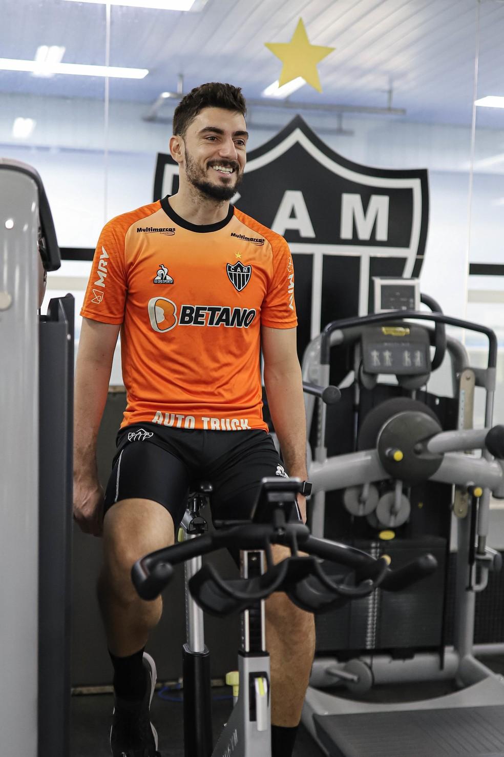 Rafael; goleiro Atlético-MG; recuperação de lesão — Foto: Pedro Souza / Atlético